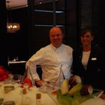 Say hello to Shota, Executive Chef, and the lovely Natalie, from the Hilton Restaurant