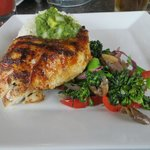Great grilled fish and veggies