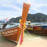 Private beach at phi phi villa resort.