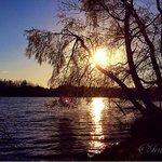 Sunset at Heartlake.