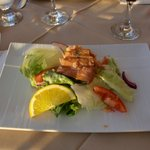 salad with house smoked trout
