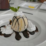 Fantastic Dessert - tropical sorbet covered in white chocolate - a must have treat!