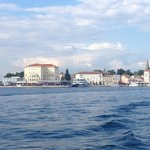 View of Porec from Fortuna Island