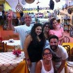 Stefano e Silvia con la famiglia di Michele