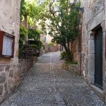 Old streets through the Vila Vella of Tossa de Mar.