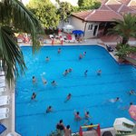 All playing water polo
