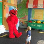 Meeting Elmo at 1-2-3 Smile With Me