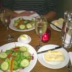 Salad and bread starters