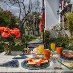 Sunday brunch at Cafe Cultura`s Garden