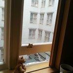 На окнах по правилам  отеля стоят заглушки. Они не открываются выше чем на 10см. Не забудьте, чт