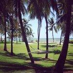 The resort grounds that overlook the ocean