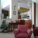 la hall dell'albergo... un salotto!