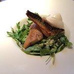 Smoked mackerel with poached egg from the specials board