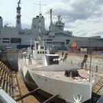 HMS Illustrious & WW1 gunboat