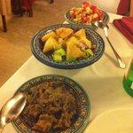 Antipasto del menù marocchino!! In particolare le melanzane sono favolose e fagottini molto sfiz