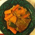Cous cous vegetariano! Con carote, zucca, peperoni e zucchine!