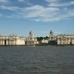 View back from the Isle of Dogs, looking at the Royal Naval College