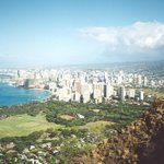 View of Waikiki from top of Diamond Head