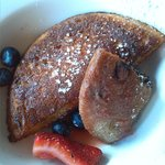 buckwheat pancakes and fruit