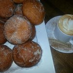 Beignets and Latte