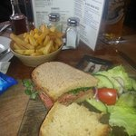 Beef sandwich at the Basketmakers Arms Brighton.
