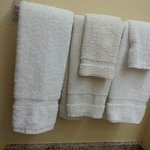 Each towel is a different style and color