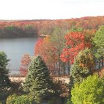 Fall season views from the room - of the lake nearby