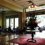 the stunning lobby