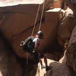 A little rappelling through Fat Man's Misery.
