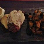 ESPECTACULAR lomo a la mostaza con berenjenas al wok
