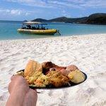 Lunch sur la plage