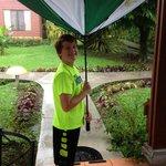 Complimentary Umbrellas