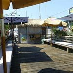 Waiting area and Tiki Bar