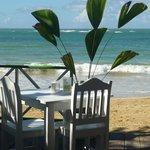 beachfront seating