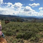 Riding the range, high above the ranch