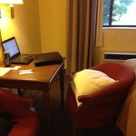 "i needed 3 pillows to reach the ""desk"". not a good business hotel"