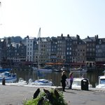 Honfleur on the coast north-east of Chateau des Riffets