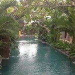 piscine calme au centre des 10 chambres