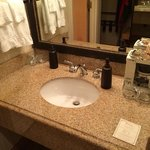 Second sink in dressing area.