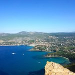 Looking at the fishing village of Cassis
