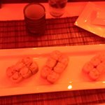 Three perfect special soy paper wrapped sushi rolls. Delicious!