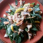 Trout and Baby Kale Salad w/Hazelnut Brittle