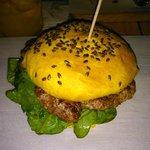 Indian style chicken burger