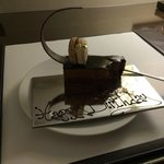 Lovely piece of delicious cake from the hotel