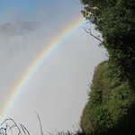 rainbow at nearby Victoria Falls