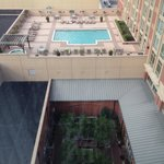 View of the rooftop pool from the 9th floor suite.