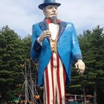 Uncle Sam in parking lot