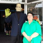 Grandma with Frankenstein Summer 2014 Lake George NY