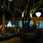 Garden Dining Area in Evening