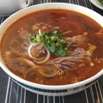 spicy beef noodle soup- sooooo good